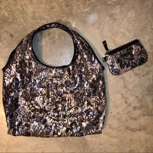 Betsey Johnson Floral Sequin Purse & Wallet